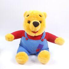 "Disney Winnie the Pooh 11"" Talking Plush Nose Wiggles Overalls Mattel 1997"