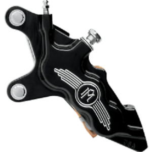 """CONTRAST LEFT SIDE PERFORMANCE MACHINE 6-PISTON CALIPER FOR 13"""" ROTOR HARLEY"""