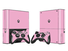 XBOX 360 E Skin Sticker Decal Cover + 2 Controllers SOLID PINK