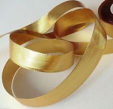 1m/0,16€ GOLDBAND 25m x 15mm gold SCHLEIFENBAND Geschenkband DEKOBAND ohne Draht