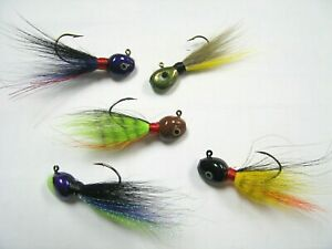 Walleye/Flat Head Bucktail Jigs-High Quality-Made In USA Choose Size/Color