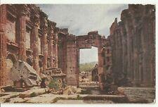 Lebanon Old Postcard Middle East Inside the Bacchus Temple, Baalbek