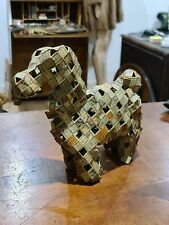 More details for vintage handmade dog made from cigarette boxes curio unusual
