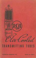 RCA TT-3 AIRCOOLED TRANSMITTING TUBES TECHNICAL MANUAL 1938.PDF