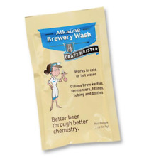 CRAFT MEISTER ALKALINE BREWERY WASH 2oz POUCH FOR BURNED ON CRAP AND CARBON