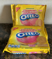 OREO LIMITED EDITION Strawberry Frosted Donut Sandwich Cookies 12.2oz Lot of 2
