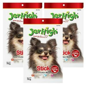 JerHigh Chicken Stick Food Snack Dog Puppy Treats Strong Bone Joint Muscles 70g