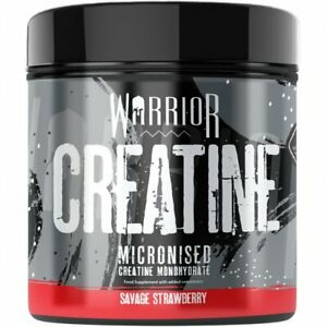 Warrior Creatine Monohydrate Powder 300g Micronized 60 Servings - Strawberry
