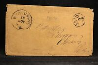 Pennsylvania: Wyalusing 1850s Stampless Cover, Black CDS, Circled PAID 3
