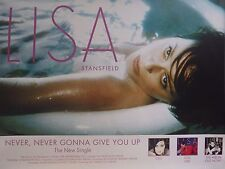 """TOUR POSTER~Lisa Stansfield Never Gonna Give Up 1997 Original 30x40"""" UK Import~"""