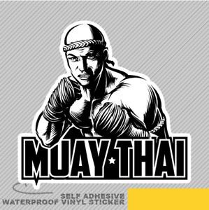 Muay Thai Fighter Vinyl Sticker Decal Window Car Van Bike 2701
