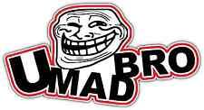 """You Mad Bro Internet Troll Face Trolling Car Bumper Vinyl Sticker Decal 6""""X3"""""""