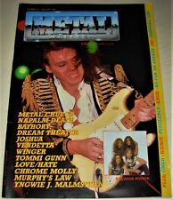 RARE Vintage 1988 METAL FORCES Magazine #35 - METAL CHURCH,DREAM THEATER,YNGWIE