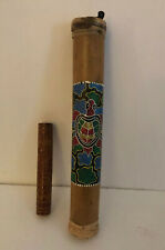 2 Rain Sticks 16� & 8� with Beautiful Etchings & Designs