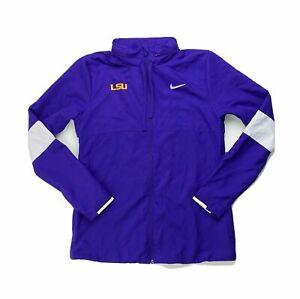Nike Dry LSU Tigers Full Zip Practice Jacket Women's Medium Purple CJ1796-546