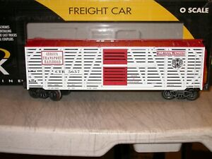 K-Line O Scale K763-5301 CTR 5657 Circus Transport Double Deck Stock Car Exc.