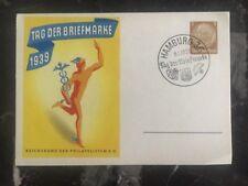 1939 Hamburg Germany Postal Stationery First Day Cover FDC Philatelic Exhibition