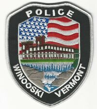 Scenic US Flag patch Winooski Police State Vermont VT