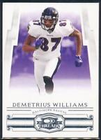 2007 Donruss Threads Football Card #127 Demetrius Williams