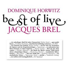 Dominique Horwitz-Best of Live-Jacques Brel 2 CD NEUF