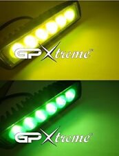 "6"" Inches Cree LED Green+Yellow Universal Fog Driving Light Bar Bike Jeep Truck"