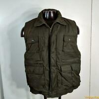 FROZEN ASSETS Polycotton ski Vest Mens size L Olive green zippered