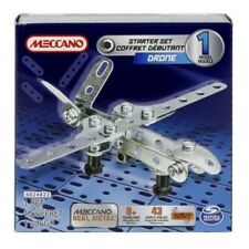 Meccano Drone Real Metal 1 Model Starter Set with 43 Parts and 2 Tools