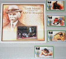 AITUTAKI COOK ISLANDS 1992 Olympics Barcelona set + Block Wrestling Boxing MNH