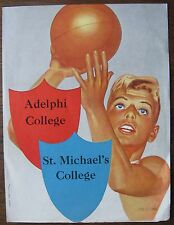 Feb. 28, 1962 Alelphi College vs St. Michael's College Basketball Program
