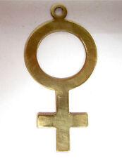 Anhänger female Zeichen Tombak 52mm Frauenzeichen statement charms