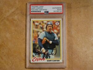 GARY CARTER SIGNED AUTOGRAPHED 1978 TOPPS CARD #120 MONTREAL EXPOS RARE! PSA