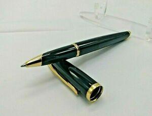 Waterman Carene Rollerball Pen - Black Sea with Gold Trim