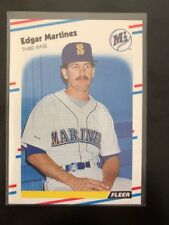1988 Fleer #378 Edgar Martinez RC Rookie Card