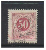 Sweden - 1878, 50 ore Carmine (Perf 13) - Used - SG 25a (a)