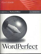 User's Guide - Novell WordPerfect V 6.1 for Windows - NEW