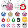 Round Paw Personalised Engraved Dog Tag Kitten Cat Puppy Pet Collar ID Tags