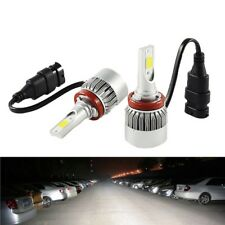 COPPIA LAMPADE LED AUTO FARI H8 H9 H11 MOTO LAMPADINE 36W LUCE BIANCA 6000K FARO