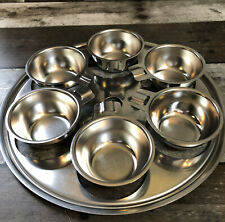 """New listing 6-Cup 9 1/2"""" Stainless Egg Poacher Insert Set Unbranded"""