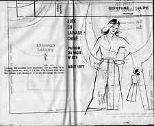 ▬► PATRON Couture Modes et Travaux - Jupe T 40 à 48 Août 1977