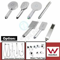 Round/Square Handheld Shower Head / Rail Holder Wall Connector/ Mixer /Twin Taps