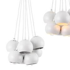 [lux.pro]® Lámpara Colgante con 7 focos Redondos Lámpara múltiple Metal Blanca