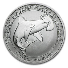2015 Australia 1/2 oz Silver Great Hammerhead Shark BU - SKU #85969