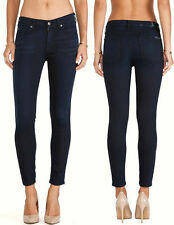 $189 NWT 7 SEVEN FOR ALL MANKIND JEANS THE ANKLE SKINNY LILAH BLUE BLACK 24 X 29