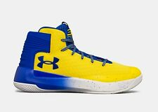 New UA CURRY 3 3ZERO Taxi Team Royal Blue Yellow Shoes 1298308-700 [Size 9]