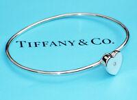 Tiffany & Co Sterling Silver Paloma Picasso Modern Heart Diamond Bangle Bracelet