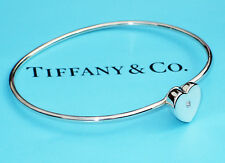 Tiffany & Co Sterling Silver Diamond Picasso Modern Heart Bangle Bracelet