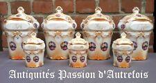 B201962 - 7 pots de cuisine en porcelaine