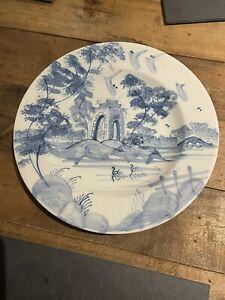 Deborah Sears Isis Ceramics Blue & White hand painted Delft Porcelain lake Plate