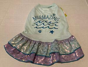 NWT Top Paw Mermazing dog dress Iridescent Skirt Mermaid M Medium