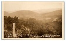 Vintage RPPC National Highway I-68, Polish Mt., Allegany County, MD Postcard